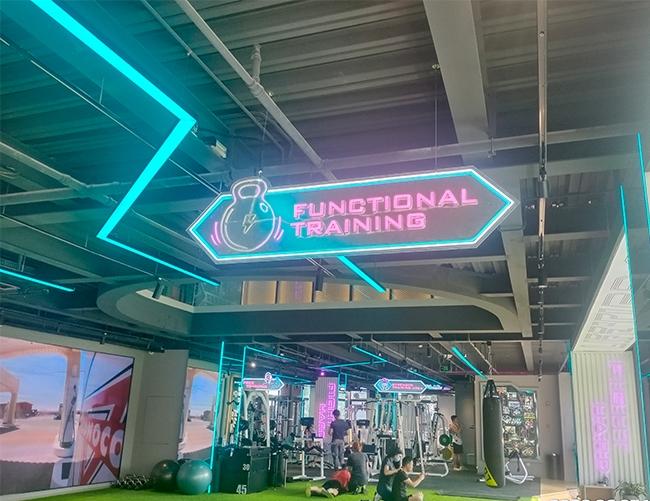 健身中心标识牌制作